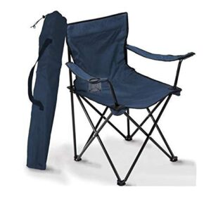 ANK  Portable Foldable Chair : for Camping, Beach, Picnic, Travelling, Fishing, Outdoors. with Arm Rest, Bottle/Cup Holder