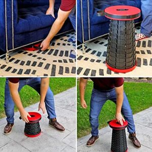 ANK RYTEMODE Folding Stools Portable Lightweight for Indoor and Outdoor Traval, Camping, Garden Use (RED)