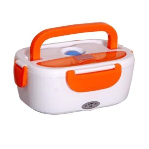 ANK  PP Plastic and Stainless Steel Electric Lunch Box Portable, 1 Piece, Multicolor