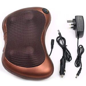 ANK Car & Home Massage Pillow Shiatsu Cushion Full Body Massager With Heat For Pain Relief (Brown)