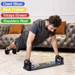 ANK Push-up Board, 9 in 1 Body Building Push Up Rack Board Push-up Support Male Fitness Equipment Home Practice Chest Muscle Arm Muscle Multi-Function Push-ups Board
