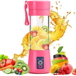 ANK 6 Blades USB Juicer Portable Blender Electric Vegetables Fruit Smoothie Squeezers Mixer for Home Travel Cup (Multicolor)