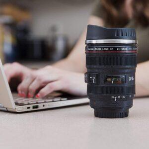 ANK Camera Lens Coffee Stainless Steel Coffee Mug (400 ml)