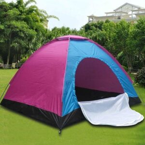 ANK Tent Portable Waterproof Tent Outdoor (for 6 Person_Multicolour).