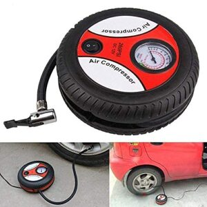 ANK Home Portable Electric Mini 12V Air Compressor Pump for Car and Bike Tyre Tire Inflation Tyre Air Pump (Multi)